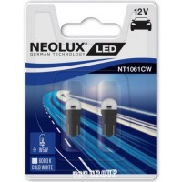 LED W5W 12V Neolux NT1061CW студено бяла 2 бр. крушки в блистер